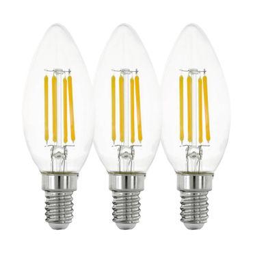 3er Set LED Leuchtmittel LM_LED_E14 klar Ø3,5cm L:9,8cm