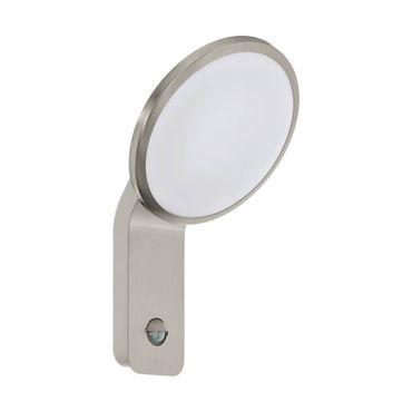 LED Outdoor Wandleuchte CICERONE edelstahl, silber weiss L:20cm H:31,5cm T:17,5cm Sensor IP44