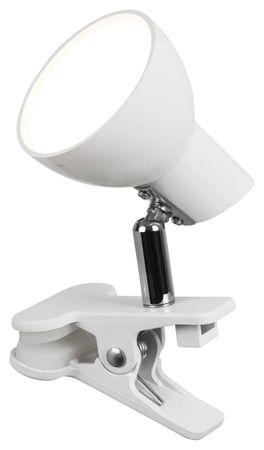 LED Klemmleuchte Noah Metall weiß L:17cm B:7cm H:10cm Klemmfunktion, Kabelschalter
