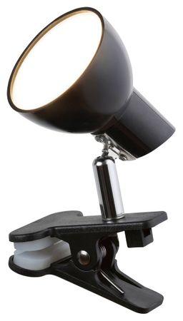 LED Klemmleuchte Noah Metall schwarz L:17cm B:7cm H:10cm Klemmfunktion, Kabelschalter