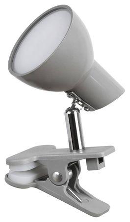 LED Klemmleuchte Noah Metall grau L:17cm B:7cm H:10cm Klemmfunktion, Kabelschalter