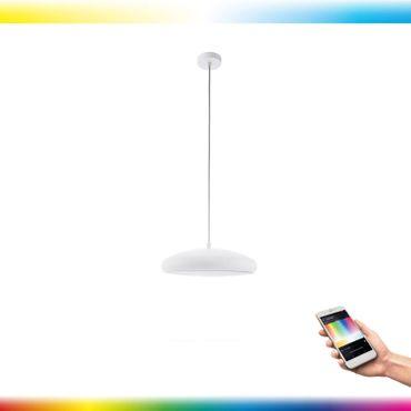 LED Pendelleuchte RIODEVA-C in weiss Ø44,5cm H:150cm dimmbar mit Connect Funktion