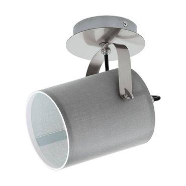 Spotleuchte LED VILLABATE nickel-matt grau Ø12cm