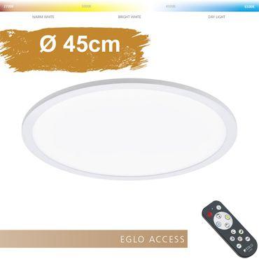 LED Deckenleuchte SARSINA-A in weiss Ø45cm H:5cm