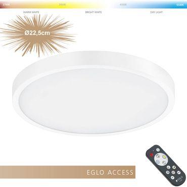 Eglo Access LED Aufbauleuchte FUEVA-A in weiss Ø22,5cm H:3cm
