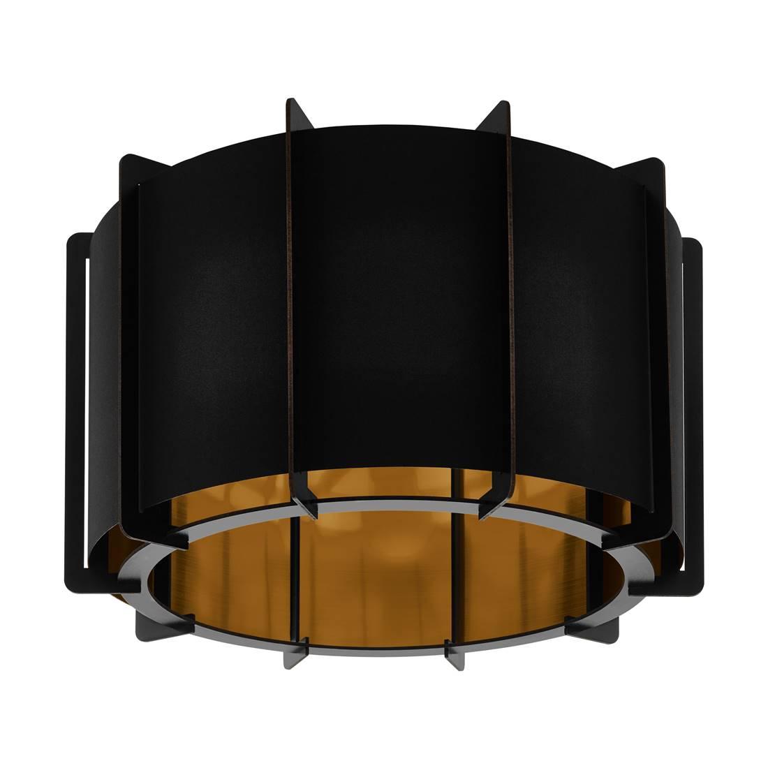 Deckenleuchte PINETA schwarz schwarz, gold Ø43cm H32cm