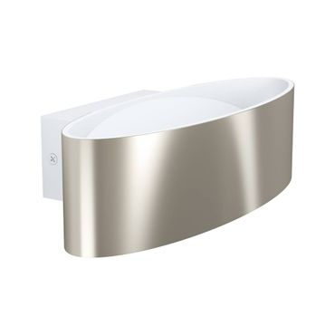LED Wandleuchte MACCACARI weiss, nickel-matt transparent L:27cm H:7,5cm T:13cm
