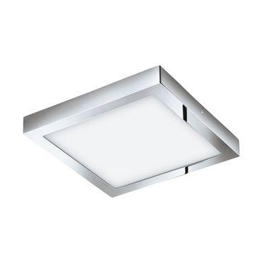 LED Aufbauleuchte FUEVA-C chrom weiss L:30cm B:30cm H:4cm IP44