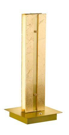 Tischleuchte Arlon 2flg Goldfarbig 15x 15x37cm dimmbar