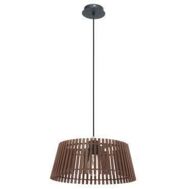 Eglo Hängeleuchte Holzstaboptik NAROLA schwarz, E27 max. 1X60W