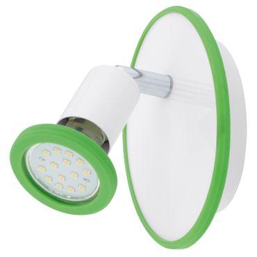 LED Spotleuchte MODINO in weiss mit Farbringen GU10 max. 1X3W