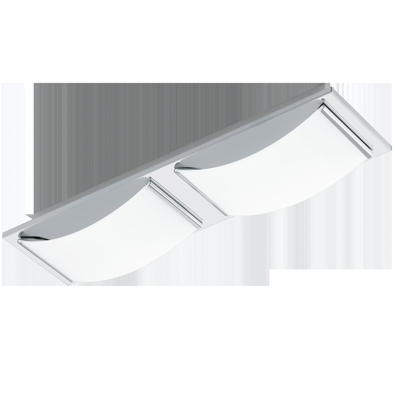 eglo wandleuchte deckenleuchte led wasao chrom led max 2x5 4w innenleuchten wandleuchten. Black Bedroom Furniture Sets. Home Design Ideas