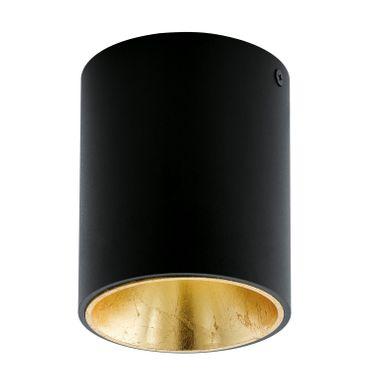 Eglo Deckenleuchte LED POLASSO schwarz, gold, LED max. 1X3,3W