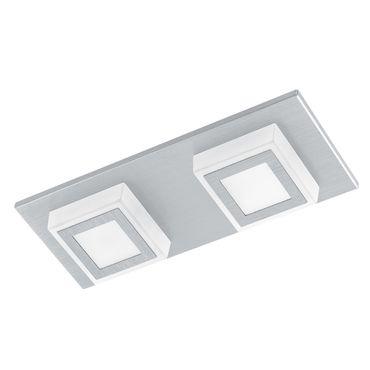 Eglo Wandleuchte/Deckenleuchte LED MASIANO alu-gebürstet, LED max. 2X3,3W