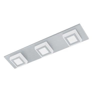 Eglo Wandleuchte/Deckenleuchte LED MASIANO alu-gebürstet, LED max. 3X3,3W