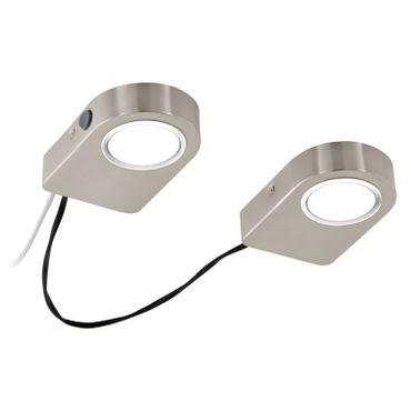 Eglo Küchenleuchten LED LAVAIO nickel-matt, LED max. 2X3,7W