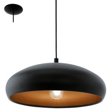 Eglo Hängeleuchte   MOGANO 1 schwarz, kupfer, E27 max. 1X60W