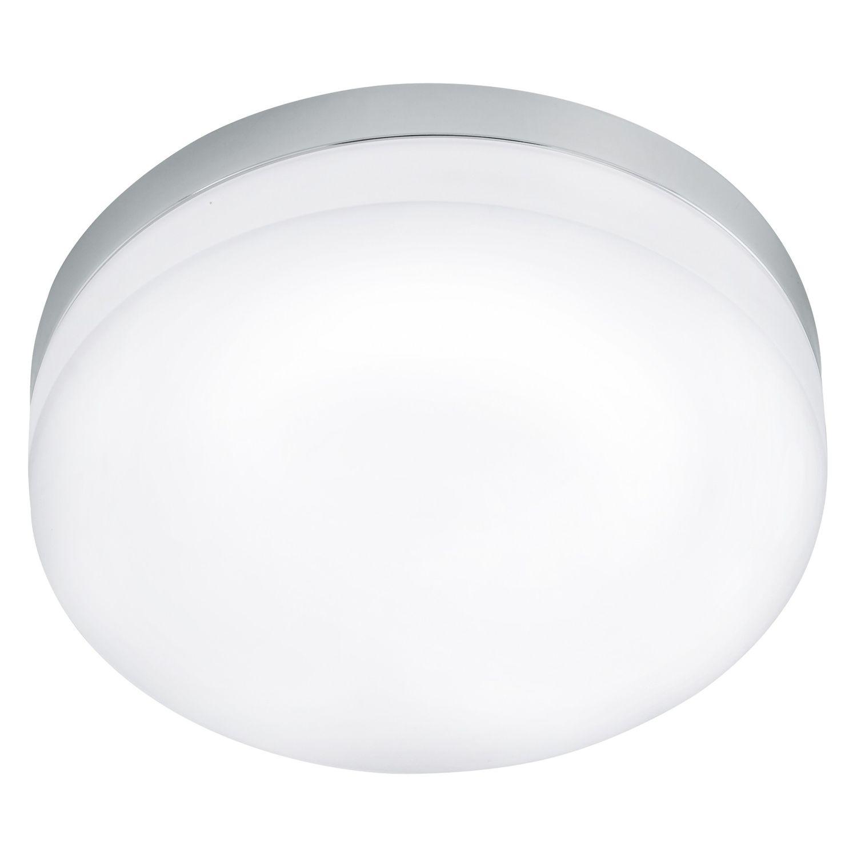 Badezimmer Deckenleuchte LED Lora in chrom Glas opal-matt weiss 16W ...