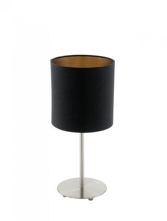 Tischleuchte Pasteri mit Schalter Textil schwarz, kupfer 1X60W H:40 Ø 18cm