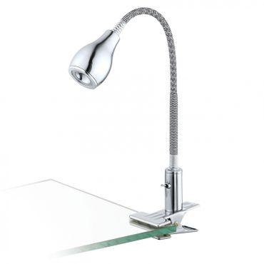 Klemmleuchte NAIRA, LED, 1X2,38W, Wippschalter+Stecktrafo