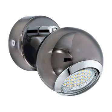 Eglo Spot LED BIMEDA nickel-nero, chrom, GU10 max. 1X3W