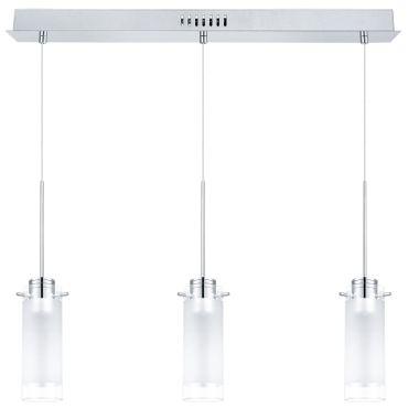 Eglo Modern LED AGGIUS 1 chrom, LED max. 3X6W