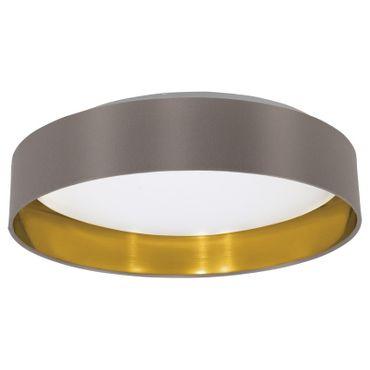 Deckenleuchte Textil Maserlo Leuchtmittel austauschbar, Textil cappuccino, gold Ø 40,5cm