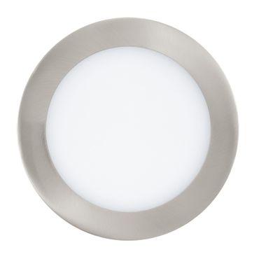 LED Einbauleuchte FUEVA 1 nickel-matt, 10,9W Ø 170 mm rund Lichtfarbe warmweiß