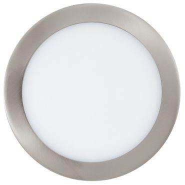 LED Einbauleuchte FUEVA 1 nickel-matt, 16,5W Ø 225 mm rund Lichtfarbe warmweiß
