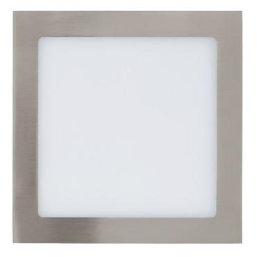 LED Einbauleuchte FUEVA 1 nickel-matt, 16,5W 225x225 mm Lichtfarbe warmweiß