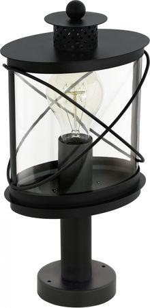 Aussenleuchte Sockelleuchte 1-flammig  E27 SCHWARZ  HILBURN Höhe: 41cm