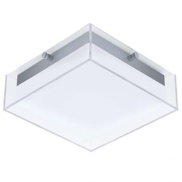 Aussenleuchte LED Wandleuchte/Deckenleuchte SILBER/KLAR/WEISS  INFESTO