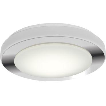 Badezimmerleuchte LED Carpi in weiss, chrom und weiss 16W Ø 38,5cm