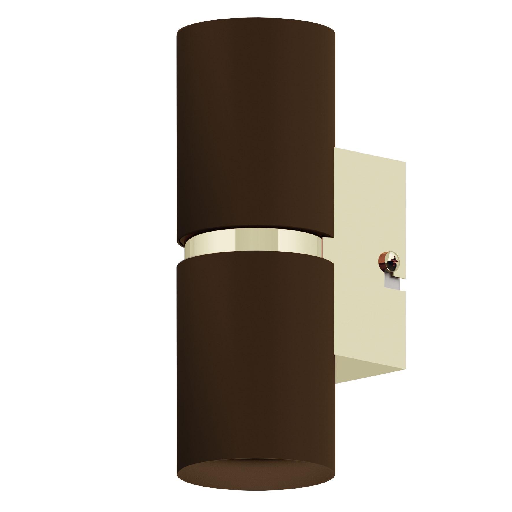 wandleuchte passa in braun kupfer 2x4w l 6 h 17cm innenleuchten wandleuchten. Black Bedroom Furniture Sets. Home Design Ideas