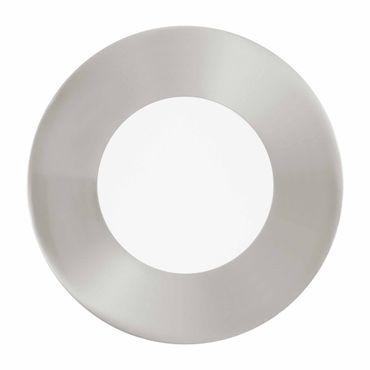 LED Einbauleuchte FUEVA 1 nickel-matt, 2,7W Ø 85 mm rund Lichtfarbe neutralweiß