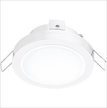 Hochvolt LED Einbauleuchte Pineda 1 in weiss und weiss 1X6W Ø 8,2cm IP44