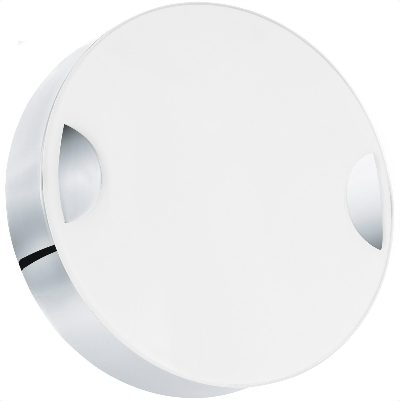 wandleuchte deckenleuchte cupella in chrom glas weiss 11w 15cm innenleuchten wandleuchten. Black Bedroom Furniture Sets. Home Design Ideas