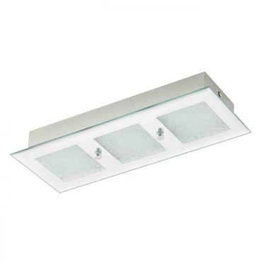 LED-Wandlampe/Deckenlampe/3 SPIEGEL/KRISTALL  PALLANTE