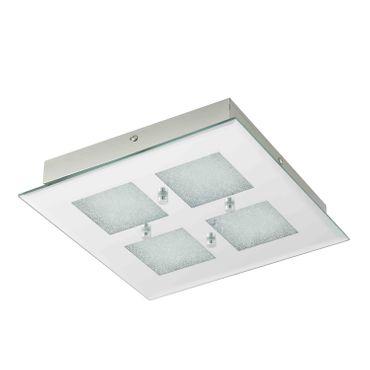LED-QUADRAT/4 SPIEGEL/KRISTALL PALLANTE
