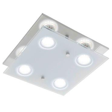 Wandlampe/Deckenlampe/4 GU10-LED CHROM/SAT-KLAR  ARBORIO