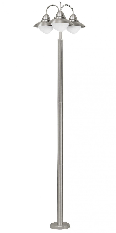 E27 max Eglo Aussenleuchte SIDNEY edelstahl 1X60W