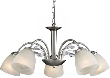 ESTO 997118-5 Luster ROMANTICA Stahl gebürstet 5x40W/E14