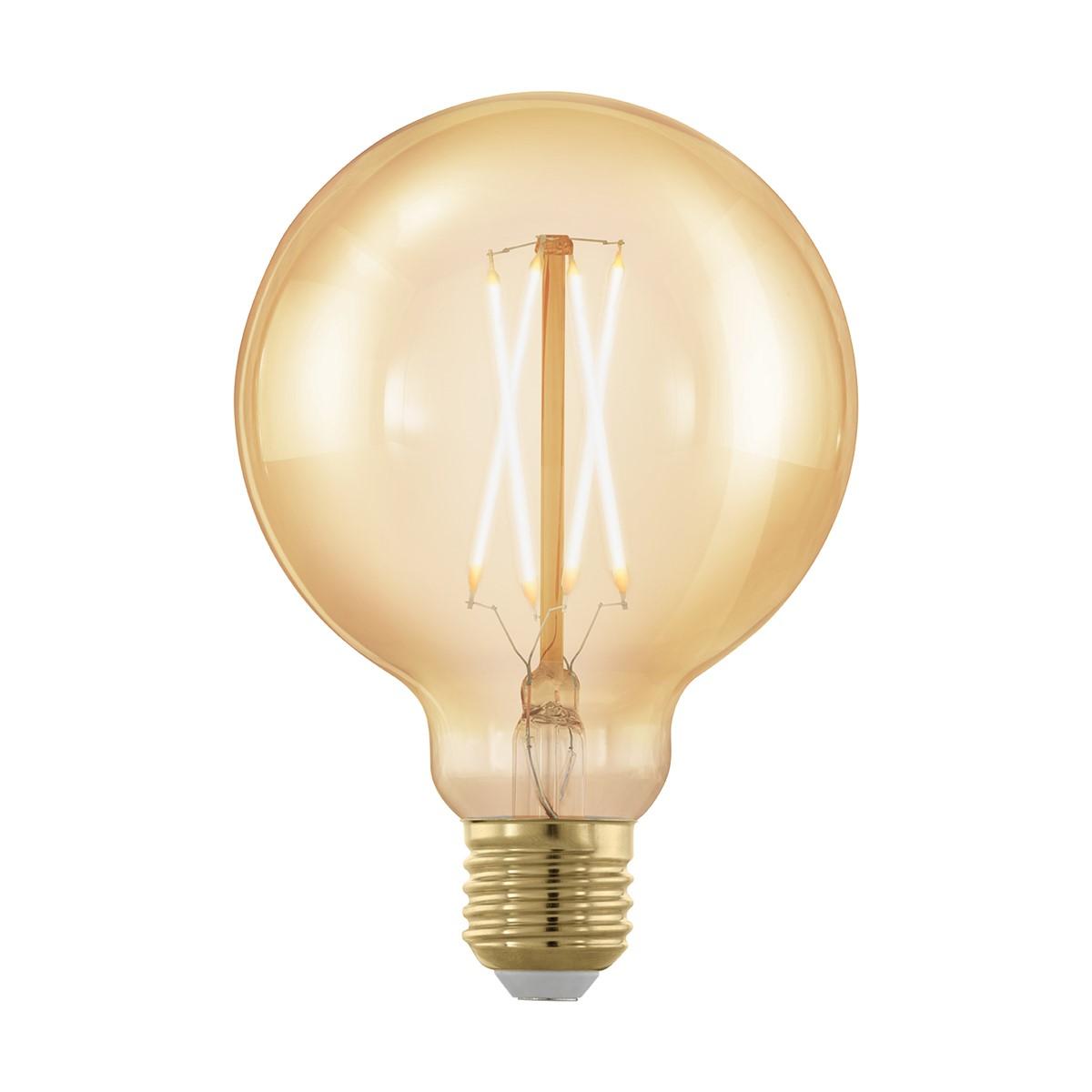 leuchtmittel e27 led g95 4w amber 1700k 1stk leuchtmittel led. Black Bedroom Furniture Sets. Home Design Ideas