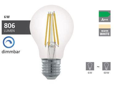 LED Leuchtmittel E27 A60 6W KLAR 2700K dimmbar 1STK