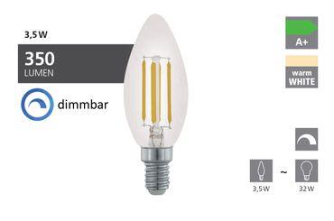 Leuchtmittel E14-LED KERZE 3,5W KLAR 2700K 1STK